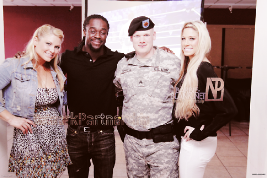 Kelly Kelly, Beth Phoenix & Kofi Kingston