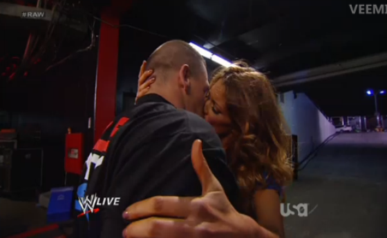 Eve Torres kisses John Cena