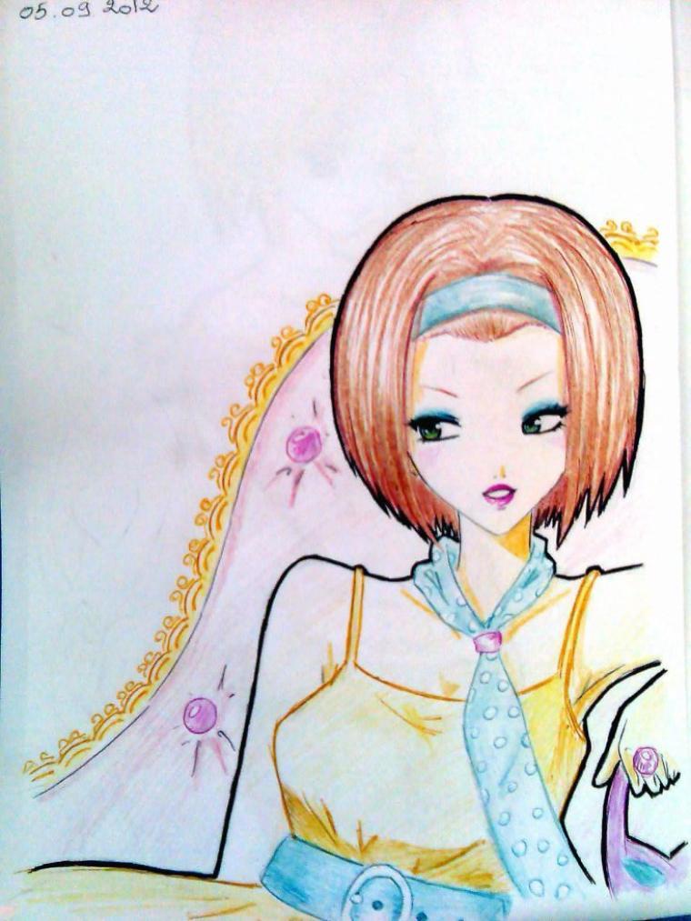 coquine manga ( Dessin fait par Siham Bouyerbou )
