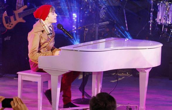 Justin bieber fai un concert  a New york a noel (l)
