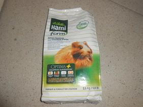 Hami forme une très bonne marque de nourriture pour cobaye