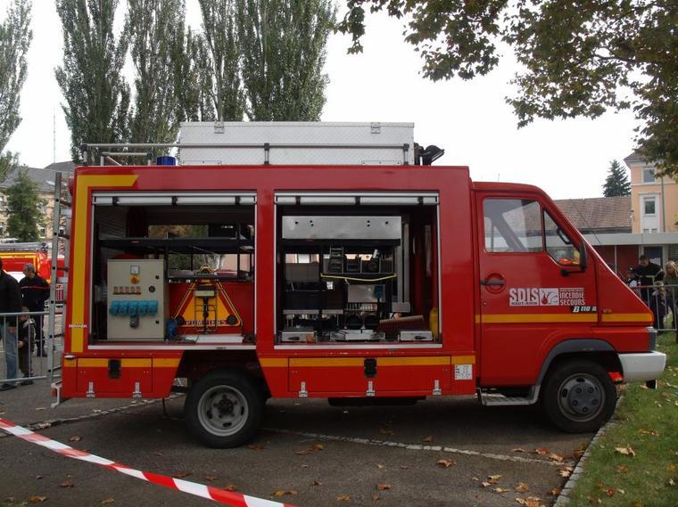 portes ouverte des pompiers de mulhouse vsab vtu vsr vss de unimog888