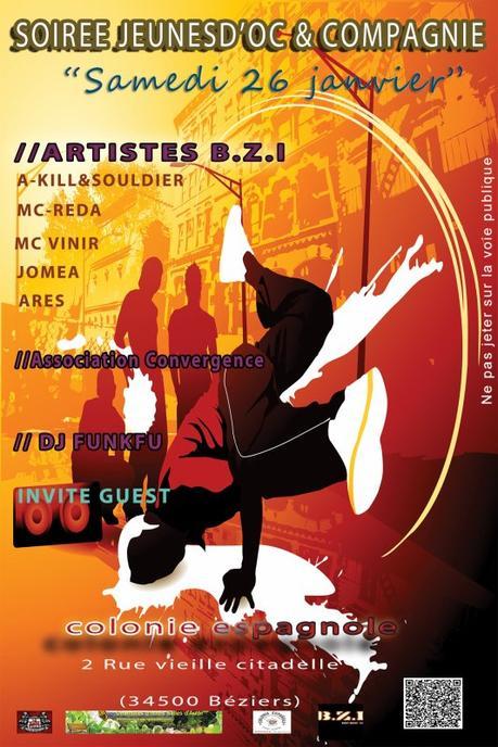 """Les Jeunes d'oc & Cie Pr�sente  """" Soir�e Hip-Hop """" le Samedi 26 Janvier a partir de 20H"""