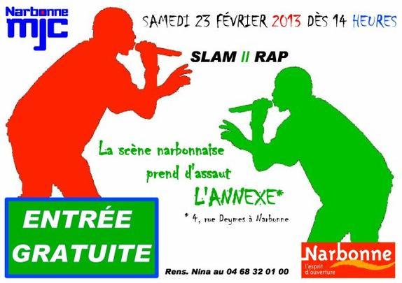 """Scene """" SLAM // RAP """" a la MJC de Narbonne"""