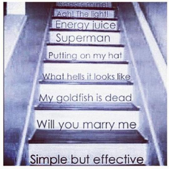 Ces escaliers me manque pas vous?