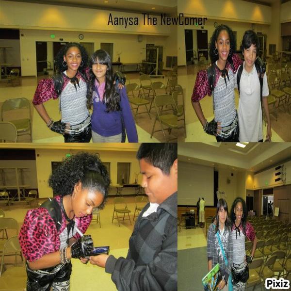 Aanysa et quelques élèves de LA Academy (School Tour) le 9 Février 2012