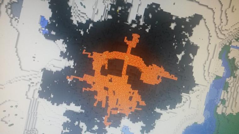 éruption volcanique sur minecraft