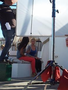 Les premi�res photos de Nad�ge sur le tournage de la s�rie ''Sous le Soleil'' !