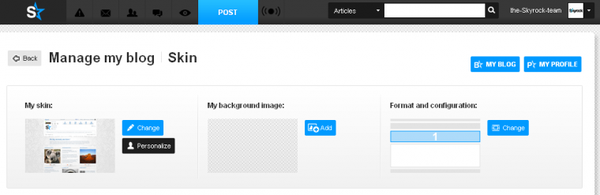 Personalise the look of your blog