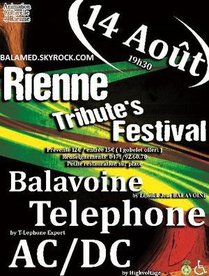 Rienne Tribute's Festival le 14 Ao�t 2014 avec Balavoine, T�l�phone et AC/DC