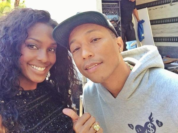 Pharrell & Lanisha Cole - Tournage du clip de Feds Watching - Los Angeles - 10 juin 2013