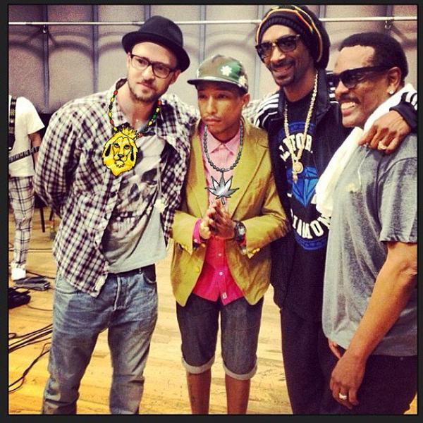 Pharrell avec... - 28 juin 2013