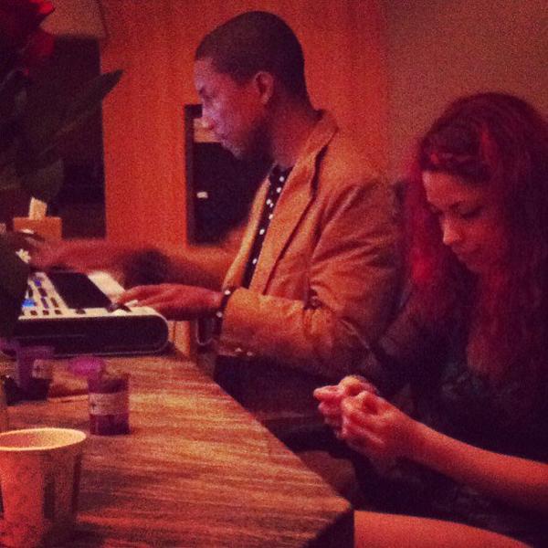 Pharrell en studio avec ... - 11 juillet 2013