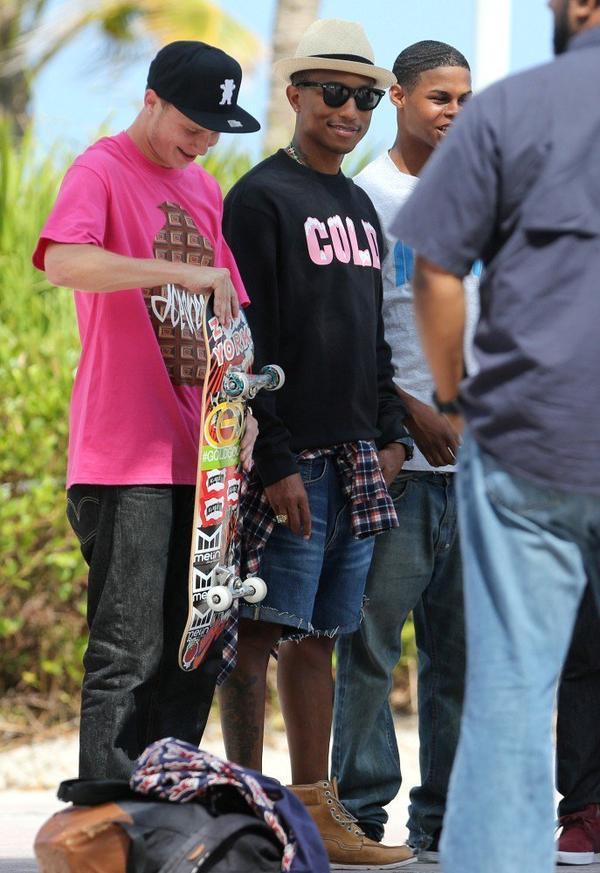 Pharrell & The Ice Cream Skate Team - Miami, FL - 26 juillet 2013