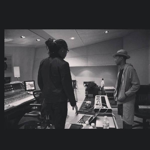 Pharrell en studio avec ... - 6 août 2013