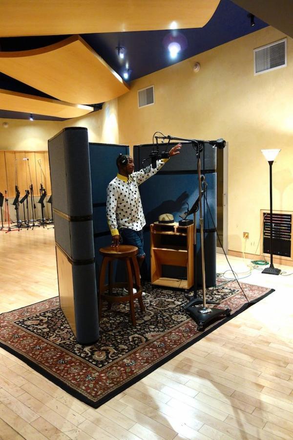 Pharrell en studio - 8 août 2013
