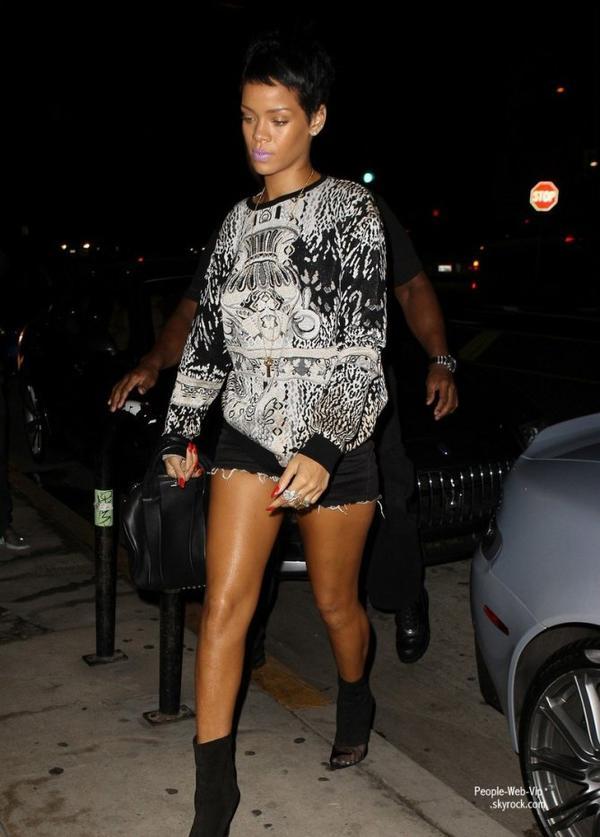 Rihanna aper�u au restaurant Giorgio Baldi  (mardi (Septembre 11) � Santa Monica, Californie)