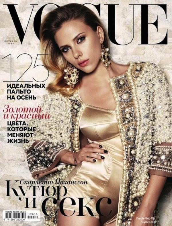 """Scarlett Johansson En couverture du magazine Russe """" Vogue """""""