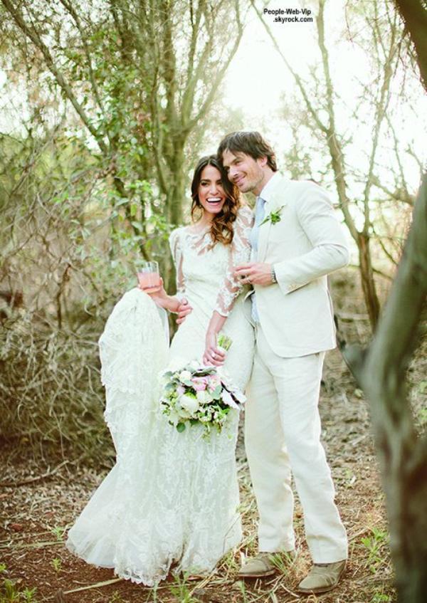 """Le magazine """"Brides"""" dévoile des photos inédites du mariage de Nikki Reed et Ian Somerhalder. Qu'en pensez vous ?"""