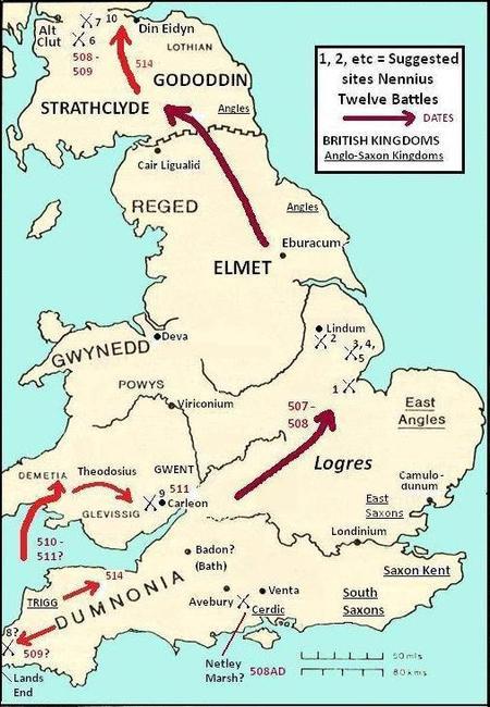 Et si les douze batailles d'Arthur se trouvaient au Sud de la Bretagne ?