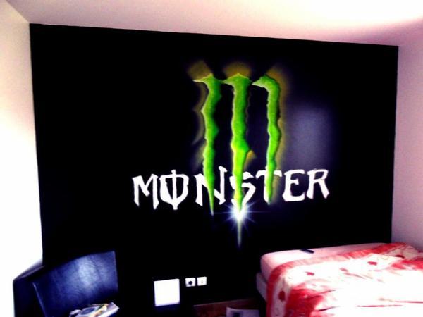 déco chambre monster energy