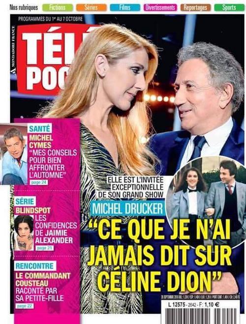 C�line dans le t�l� poche en France et dans TV hebdo au Canada