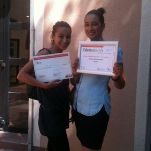 Lillia et Nejma Bendhamane, promo Adie Cr�aJeunes 2011, laur�ates du concours Talents des Cit�s