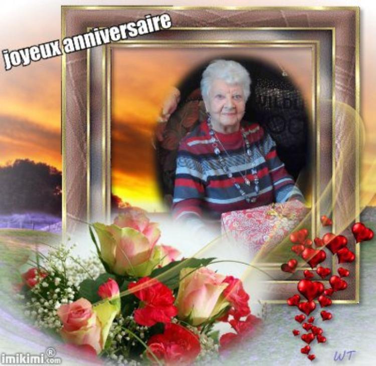 joyeux anniversaire a belle maman 95 ans aujourd hui < cette photo est de l annee derniere >