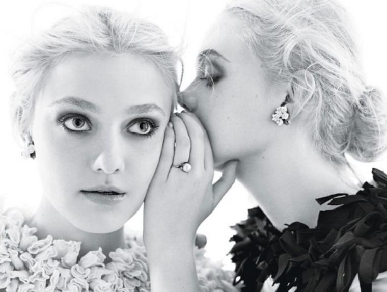 Dakota & Elle Fanning  for W Magazine ( December 2011 )