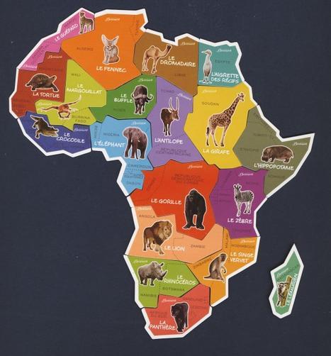 BROSSARD - Savane - Ani'magnets Carte de l'Afrique