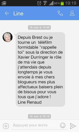 Line Renaud -  Un petit texto depuis Brest!