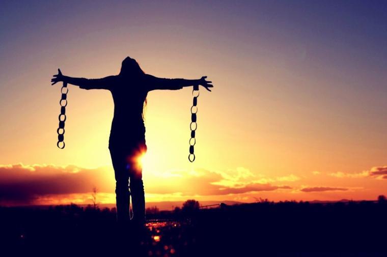 Chaîne brisée de l'esclavage