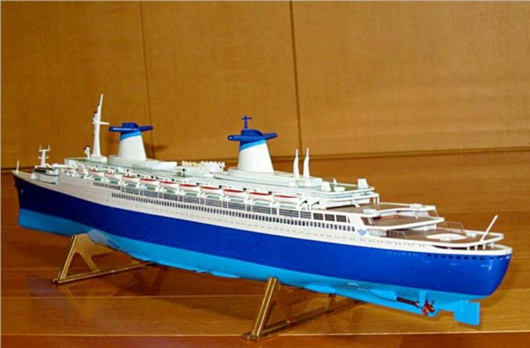 S/S NORWAY construit � partir du S/S FRANCE maquette AIRFIX