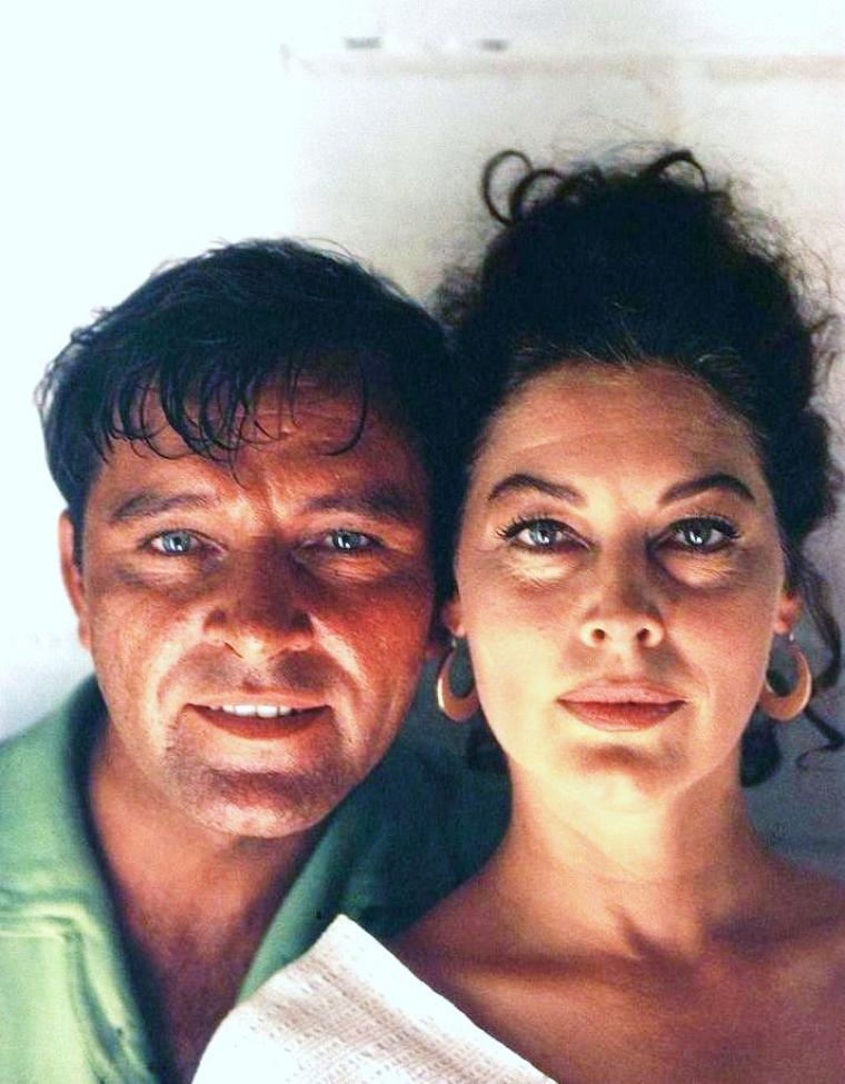 1964 film culte ava gardner et richard burton sur le tournage du