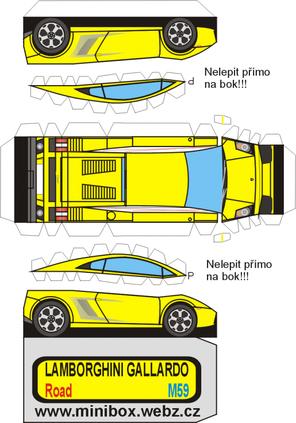Maquette De Lamborghini En Papier