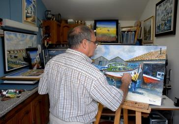 Patrice LEVOIN...dans son atelier....