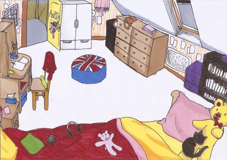 Ma chambre dessin e par moi pour un devoir d 39 anglais for Chambre commerciale 13 novembre 2013