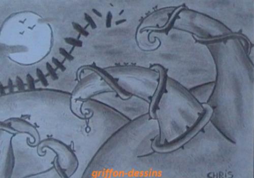 Dessin d 39 un paysage fantastique griffon dessins - Dessiner un paysage ...