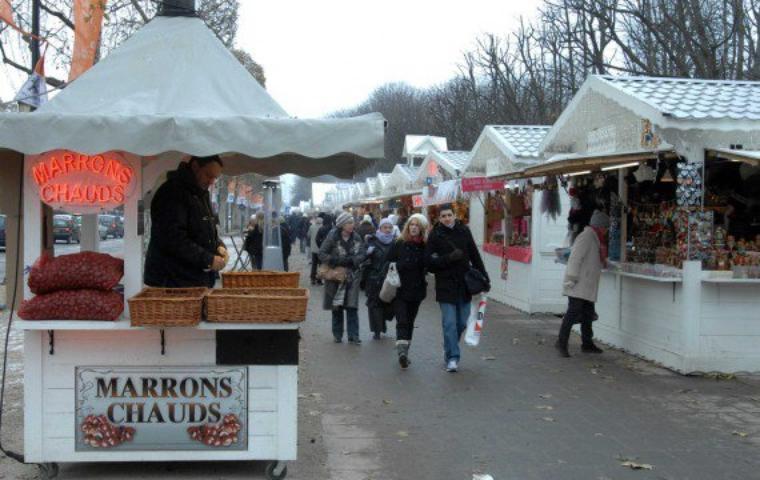 March de noel des champs elys es tout le charme de paris - Marche de noel de paris ...