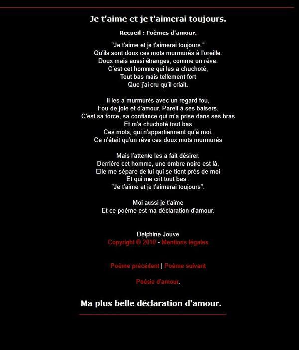 Poeme d'amour rencontre sur le net