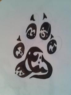 tribal une patte de chien l ury13 dessin. Black Bedroom Furniture Sets. Home Design Ideas