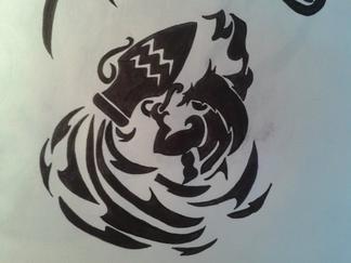 tribal signe astrologique 2 l ury13 dessin. Black Bedroom Furniture Sets. Home Design Ideas