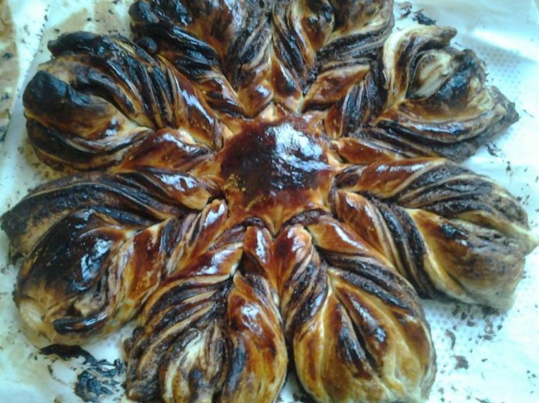 Soleil feuillet au nutella la cuisine dans tous ses tats - Pate feuilletee nutella soleil ...