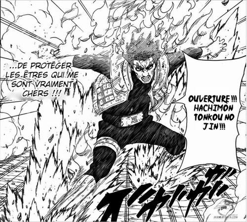 Naruto 668 naruto one piece fairy tail dragon for Gai sensei 8 portes