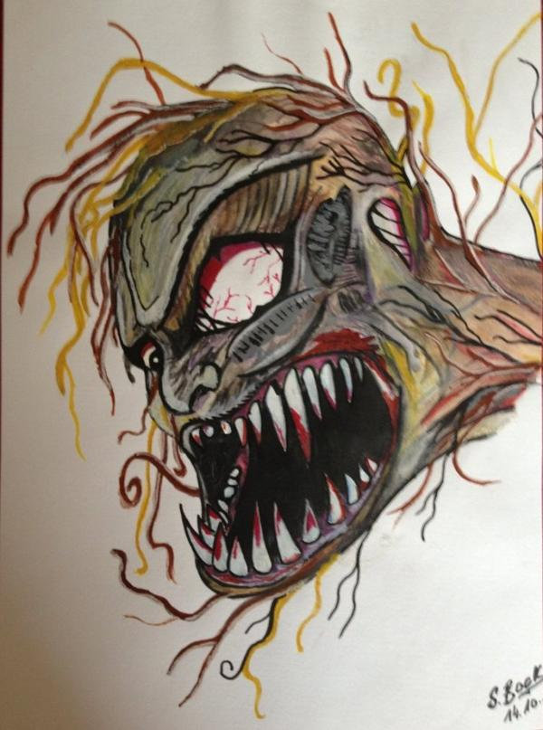 Dessin le monstre aux vers blog de mirkot51 - Dessin horreur ...