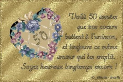 Noces d 39 or 2011 a thimeon vous devez f ter un v nement familial vous - Cadeau 50 ans de mariage noces d or ...