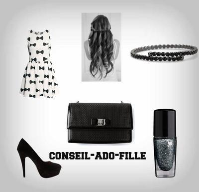 tenues de soir e et tutoriels des conseils mode maquillage vernis makeup. Black Bedroom Furniture Sets. Home Design Ideas
