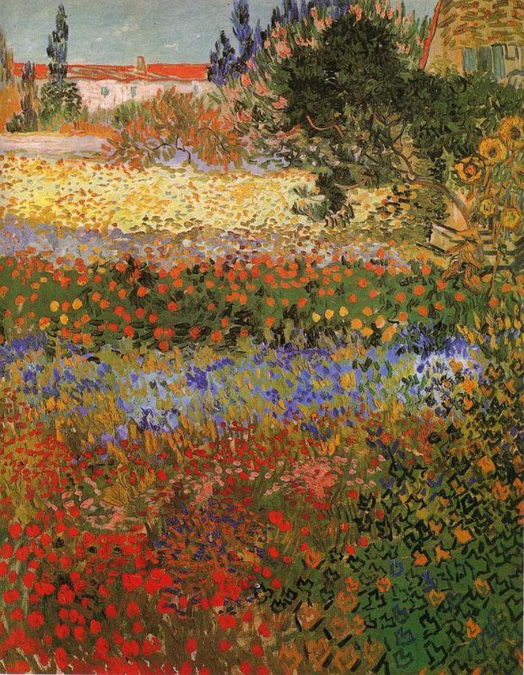 Vincent van gogh jardin fleuri arles juillet 1888 for Jardin a auvers van gogh