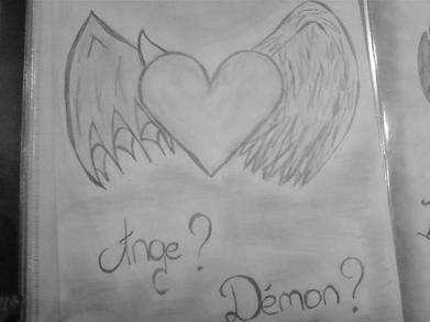 Blog de i lol you 33 mes dessins dessin s d - Dessin ange demon ...