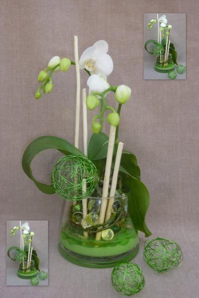 orchid e en centre de table blog de knautie des champs. Black Bedroom Furniture Sets. Home Design Ideas